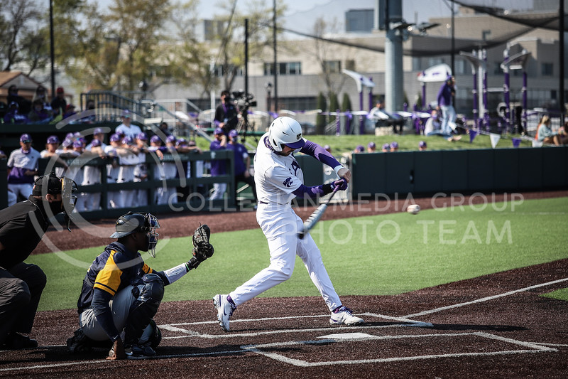 Sophomore Dylan Phillips up to bat and swinging on Saturday (April 24, 2021) game against Western Virginia at Toniton Stadium. <br /> Elizabeth Proctor Collegian Media Group