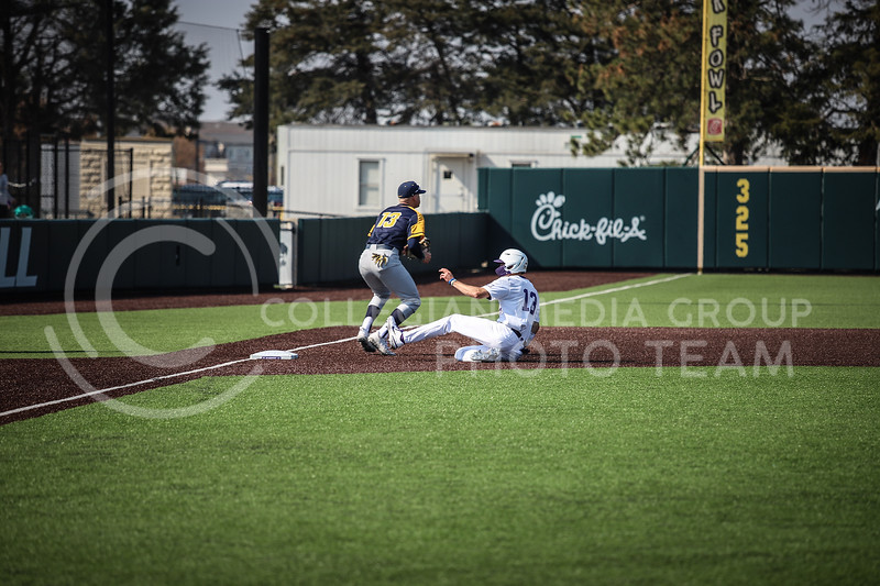 Senior Caleb Littlejim sliding into third base after stealing on Saturday (April 24, 2021) game against Western Virginia at Toniton Stadium. <br /> Elizabeth Proctor Collegian Media Group