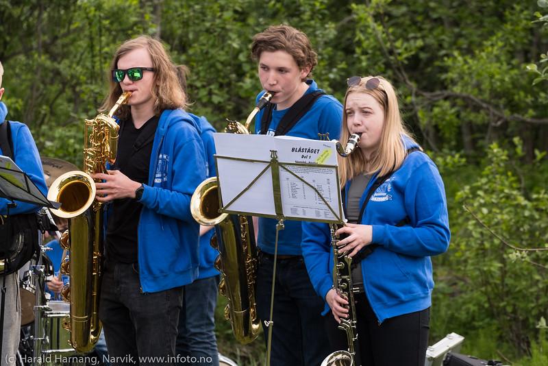 Narvik skolekorps, konsert i Elvedalen 12. juni 2019