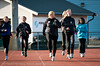 5.5.2011: Friidrettstrening på Narvik Stadion. Sol, +8 grader. Trener Kari Ann Nygård.