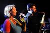 Marit Lamvik kan mer enn å dirigere. Konsert Folkets Hus, Narvik, 17.1 2009. Mønstring av kulturlivet og kulturskolens viktighet i forb. m. forslag om å kutte stilinger og penger til kulturskolen.