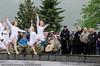 Kulturinnslag med dans. Arrangement i forb m Kong Haralds kransnedleggelse på det nasjonale frihetsmonumentet i Narvik 15. juni 2009.