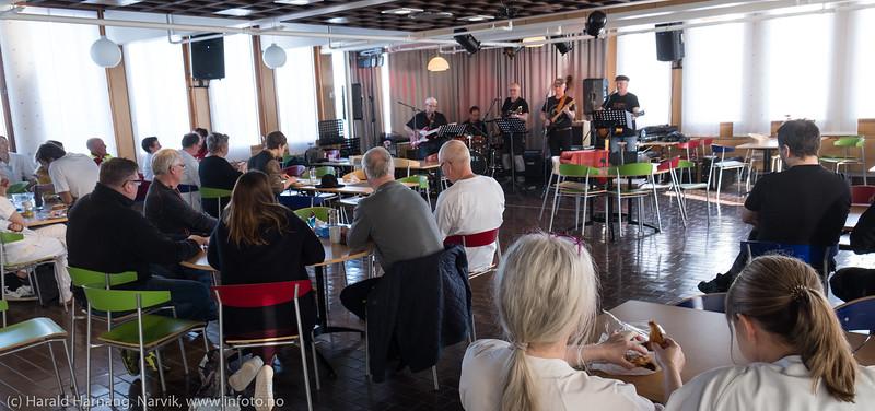 Glade Gutter, konsert i kantina på UNN-Narvik 13. mars 2018