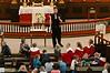 Gudstjeneste 25. mars 2012. Tryllekunstner holder preken. Arr for seksåringer og konfirmanter. Narvik barne og ungdomskantori deltar.
