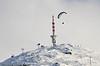Paraglider i lufta nær Fagernestoppen ved Narvik.