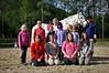 Alle deltakere og lærer Vera. Rideleir Skjomdalen 22.-27. juli 2012.