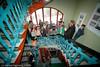Museum Nord, Ofoten Museum, omvisning av skoleklasse i trappegang.