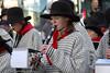 Åpning Vinterfestuka 2005, fra barnetoget. korps spiller.