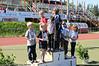 Premieutdeling aspirantklasse. Nordnorsk mesterskap i friidrett, Narvik Stadion, juni 2008.