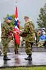 Kongen legger ned krans. Arrangement i forb m Kong Haralds kransnedleggelse på det nasjonale frihetsmonumentet i Narvik 15. juni 2009.