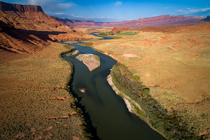 THE WINDING COLORADO RIVER 20 MILES EAST OF MOAB