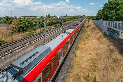 S-Bahnhof Darmstadt-Arheilgen, Richtung Norden