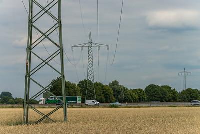 Von Weiterstadt über die A5 Richtung Nordosten