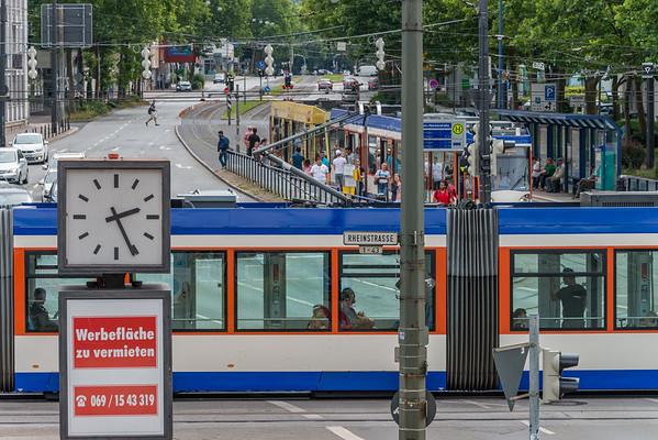 Neckarstraße vom Kennedyhaus Richtung Süden