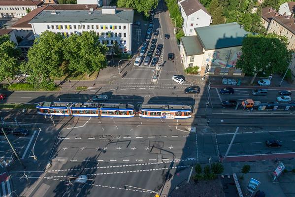 Kreuzung Heidelberger Straße, Eschollbrücker Straße, Heinrichstraße