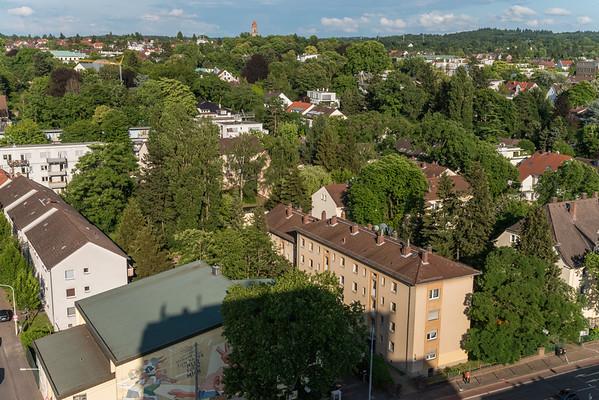 Richtung Südosten von der Heidelberger Straße, Ecke Eschollbrücker Straße