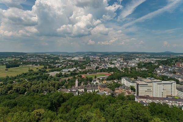 Blick auf Wetzlar von der Burgruine Kalsmunt, Richtung Norden  (Foto: Christoph Rau)