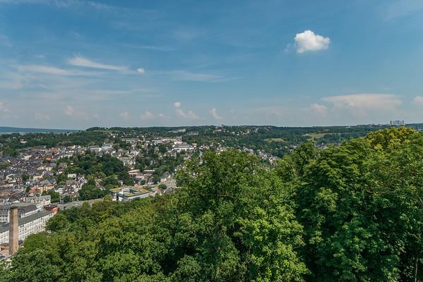 Blick auf Wetzlar von der Burgruine Kalsmunt, Richtung West-Nordwest  (Foto: Christoph Rau)