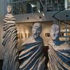Ausstellung in der Galerie Netuschil Darmstadt: Christofer Kochs - Holzskulpturen, Malerische Originale, Collagen