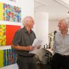 Vernissage in der Galerie Netuschil Darmstadt am 30. August 2015: Oliver Christmann – Improvisation und Reflexion (Malerei) und Jörg Bach –  Konstruktion und Emotion (Skulptur)