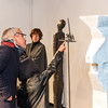 """Vernissage in der Galerie Netuschil Darmstadt am 31. Januar 2016: """"25 Positionen zum Thema Stele - Torso - Säule"""", Stein, Bronze, Stahl, Holz, Beton, Eisen, Keramik"""