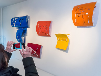 """Vernissage """"E. R. Nele - Energie des Schöpferischen"""", Neue Arbeiten in der Galerie Netuschil Darmstadt am 29. Januar 2017"""