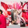 """Vernissage """"Ralph Gelbert - Farbe bekennen/Malerei und Matthias Will - Balance halten/Stahlskulptur"""", Galerie Netuschil Darmstadt, 6. August 2017"""