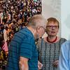 "Vernissage ""Erinnerung an Afrika!: Georg Bergmann - Fotografien, Pierre Kröger - Aquarelle, Aspekte afrikanischer Kunst II - Figuren, Masken und Artefakte"", Galerie Netuschil Darmstadt, 12. August 2018 (Foto: Christoph Rau)"