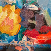 """Vernissage """"... fließend in gefügter Form!: Henning Kürschner - Neue Bilder und Rolf Szymanski - Bronze- und Eisenplastiken"""", Galerie Netuschil Darmstadt, 30. September 2018 (Foto: Christoph Rau)"""