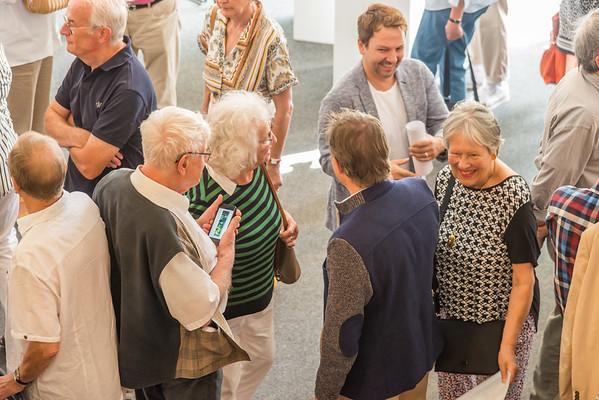 """Vernissage """"Christopher Lehmpfuhl - Landschaftstraum und Farbrausch, Neue Ölbilder und Aquarelle"""", Galerie Netuschil Darmstadt, 11. August 2019 (Fotos: Christoph Rau)"""