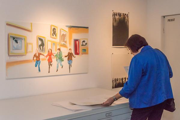 """Vernissage """"Vor der Kunst - Bilder einer Ausstellung: Malerei, Zeichnung, Collage, Druckgrafik, Fotografie, Skulptur, Video"""", Galerie Netuschil Darmstadt, 27. Oktober 2019 (Fotos: Christoph Rau)"""