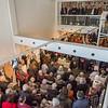"""Vernissage """"Thomas Duttenhoefer - Ein Gruß zum Siebzigsten: Orpheus, Pan und Vogelfrau - Bronze, Eisen, Terrakotta, Gips, Mischtechnik und Zeichnung"""", Galerie Netuschil Darmstadt, 9. Februar 2020 (Foto: Christoph Rau)"""
