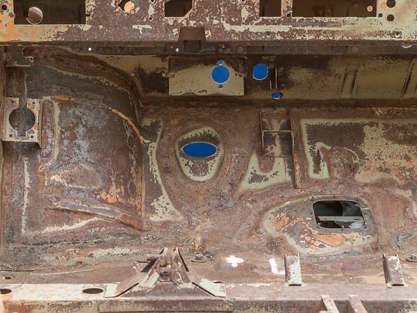 """Oldtimer """"Volkswagen Iltis"""" in der Restauration durch T.P. in Darmstadt-Eberstadt, September 2015 (Foto: Christoph Rau)"""