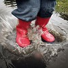 FETCHAM, UNITED KINGDOM - MAY 26:  In this photo illustration a boy splashes in a puddle after a rain shower on May 26, 2006 in Fetcham, Surrey. Local utility company Sutton and East Surrey Water has announced that the United Kingdom's first drought order for 11 years will come into effect tomorrow.   (Photo Illustration by Peter Macdiarmid/Getty Images)