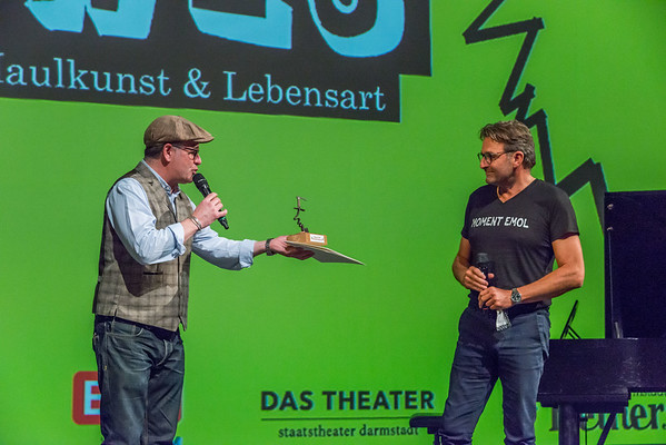 """Verleihung des """"SPIRWES – Darmstädter Preis für Maulkunst & Lebensart"""" am 4. Oktober 2020, Großes Haus, Staatstheater Darmstadt (Foto: Christoph Rau)"""