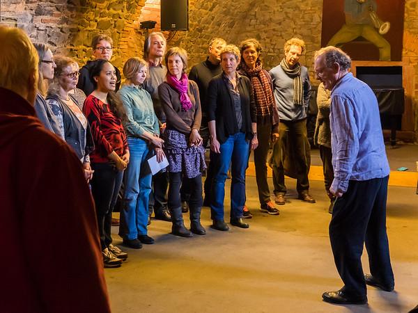 Workshop mit Phil Minton: The Feral Choir. Der wilde ungezähmte Chor im Jazzinstitut Darmstadt (70. Frühjahrstagung des INMM Darmstadt: Body sounds. Aspekte des Körperlichen in Neuer Musik)