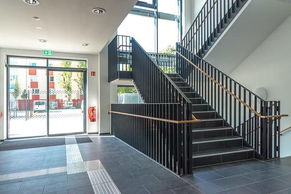 Neubau Chemie- und Biotechnologie der Hochschule Darmstadt (CuB), Treppenhaus (Foto: Christoph Rau)