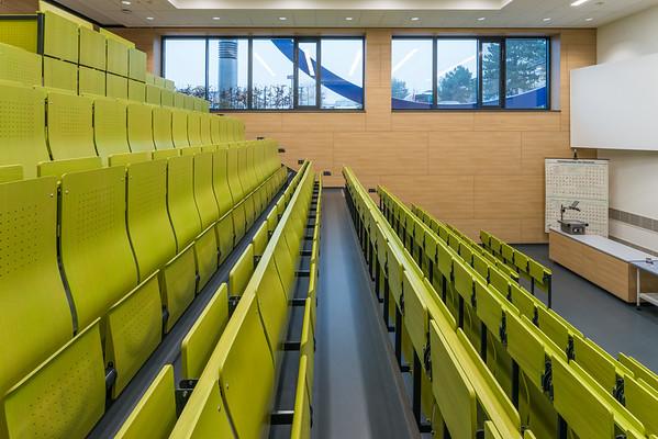 Neubau Chemie- und Biotechnologie der Hochschule Darmstadt (CuB), Hörsaal (Foto: Christoph Rau)