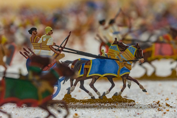 04 Museum Schloss Lichtenberg: Äthiopiereinfall in Ägypten 1300 v. Chr. (Foto: Christoph Rau)