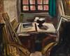 Das Atelier von Rudi Baerwind, 1949, Öl