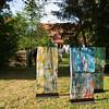 """Künstleressen zur Ausstellung """"Ein Blick zurück ins Paradies"""" im Garten des Künstlerhaus Ziegelhütte in Darmstadt am 9. Mai 2015"""