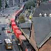 Godstog på vej op fra Århus Havn<br /> <br /> © Foto: Jens Hasse/Chili<br /> Dato: 24.08.06<br /> Chili foto & arkiv