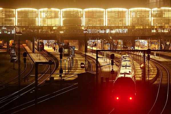 Ny belysning ude og inde på Aarhus H<br /> 11.1.2014