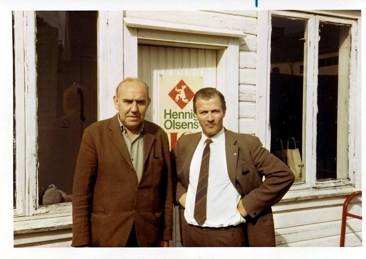 Hans Andreas Hansen (t.v.) og Olav Stensland jr. var sentrale i oppbyggingen av Hennig-Olsens rolle i Rogaland.