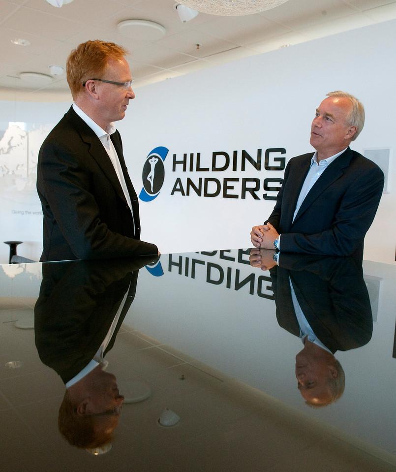 Gunnar Johansson, ny VD med Fredrik Arp, styrelseordförande Hilding Anders