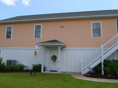 Another sample orange house - Kure Beach Village
