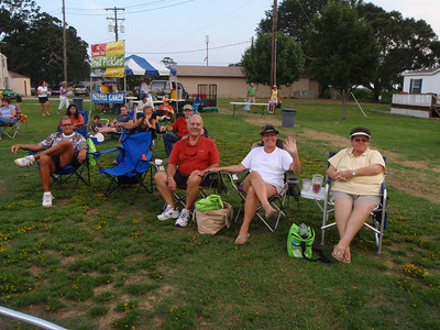 Bluegrass concert attendees: Dennis, Jenny, Mike, Amy, and Frances