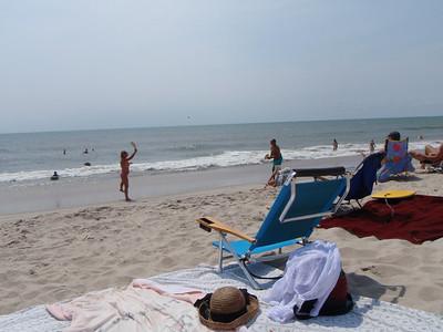 Beach time on Sunday.  Mary and Dennis play Kadima like pros!
