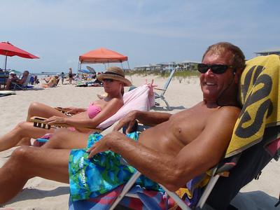 Relaxing at Kure Beach!