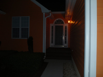 New house paint even looks good at night!